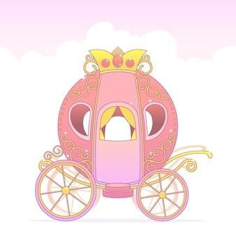 Bajkowy powóz ze złotą koroną