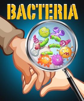 Bakterie na ludzkich rękach