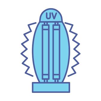 Bakteriobójcza lampa uv. medyczne urządzenie przeciwdrobnoustrojowe do domu, kliniki, szpitala. lampa do dezynfekcji światłem ultrafioletowym. bakteriobójcze promieniowanie ultrafioletowe. sterylizator uv. wektor