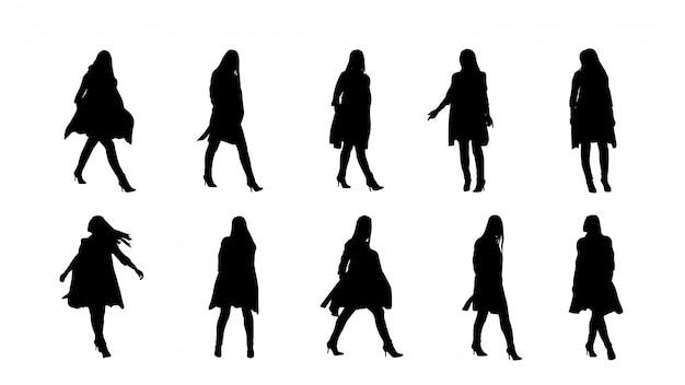 Balck kolor sylwetki kobiety