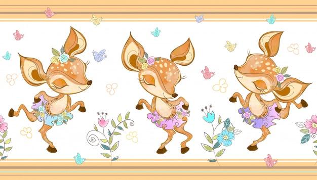 Balerinki lisów tańczących.