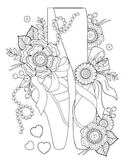 Baleriny w kwiatowy wzór