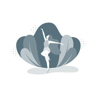 Baletnica-ilustracja koncepcja