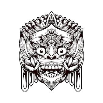 Balijska tradycyjna maska barong