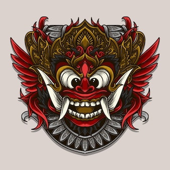 Balijski barong grawerowania ornament ilustracja