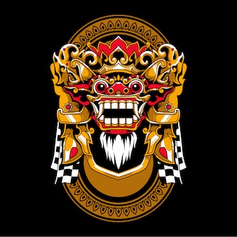 Balijski barong ilustracji