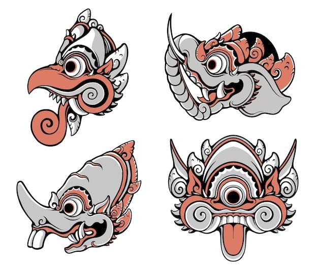Balijski ornament zwierzęcy