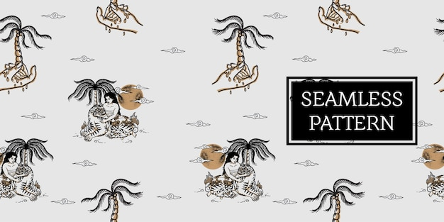 Balijski wzór tygrysa hawain