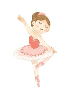 Ballerina wall art, girls room decor, ballerina poster, baby girl przedszkola wall art, ballerina art, ballerina printable, baby shower gift