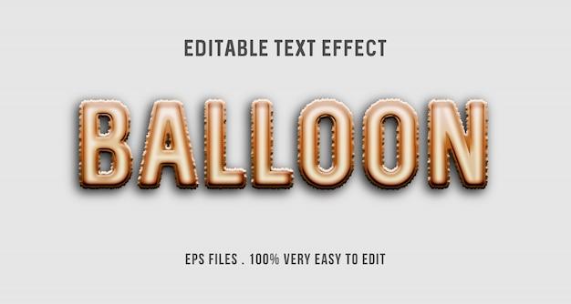 Balon - efekt tekstowy