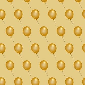 Balon elegancki złoty balon bez szwu wzór tapety w tle