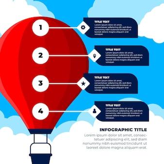 Balon infographic koncepcja