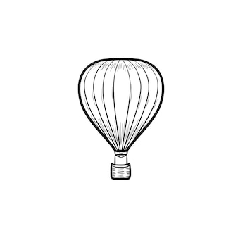 Balon na gorące powietrze ręcznie rysowane konspektu doodle ikona
