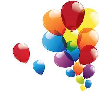 Balon odizolowywający na białym tle