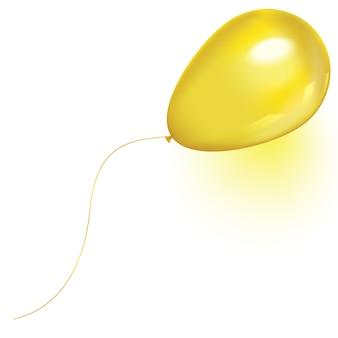 Balon powietrza latający żółty