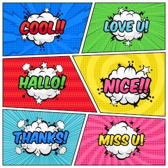 Balon tekst półtonów w stylu pop-art