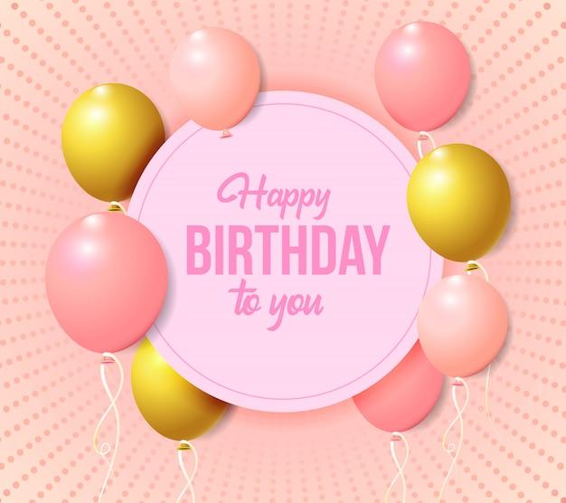 Balon tło na przyjęcie urodzinowe i rocznicowe