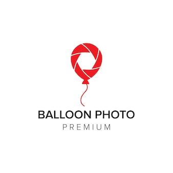 Balon zdjęcie logo ikona wektor szablon