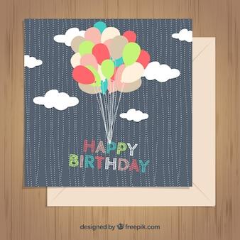 Balony birthday card
