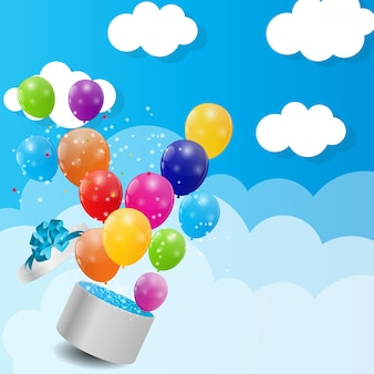 Balony błyszczący kolor tła ilustracji wektorowych. eps10