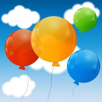 Balony błyszczący kolor tła ilustracji.