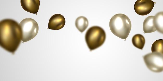 Balony, które są zdmuchiwane na świętowanie