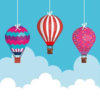Balony latające gorące powietrze