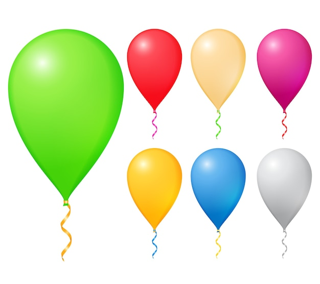 Balony na białym tle