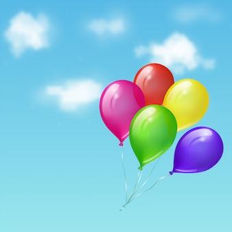 Balony na niebie