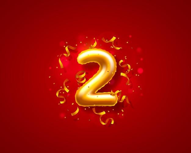 Balony na uroczystości świąteczne, balony z dwoma liczbami.