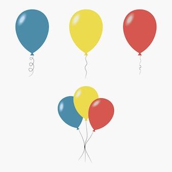 Balony. ozdoba na przyjęcie, niespodzianka na urodziny. ilustracja wektorowa.