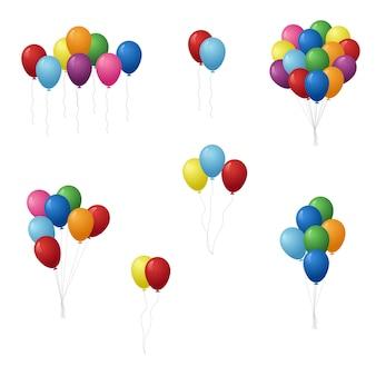 Balony urodziny zestaw ilustracji