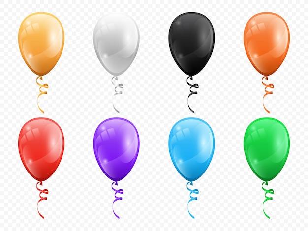 Balony w kształcie kół na białym tle zestaw