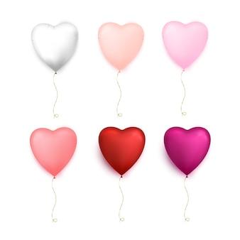 Balony w kształcie serca. szczęśliwych walentynek. ilustracja
