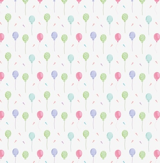 Balony wzór konfetti