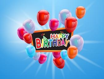 Balony z okazji urodzin Kolorowe