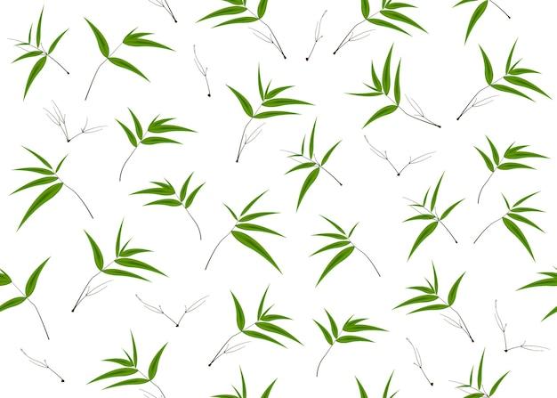 Bambus opuszcza bezszwowego tło