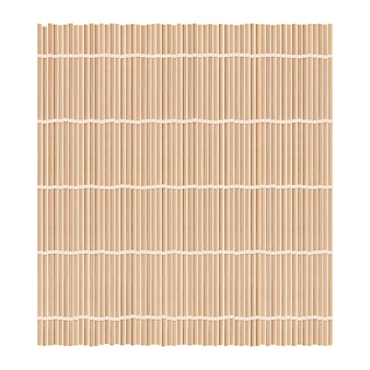 Bambusowa mata tło do robienia sushi. widok z góry. realistyczne tekstury makisu lub zasłony.