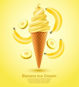 Banan sundae soft serve