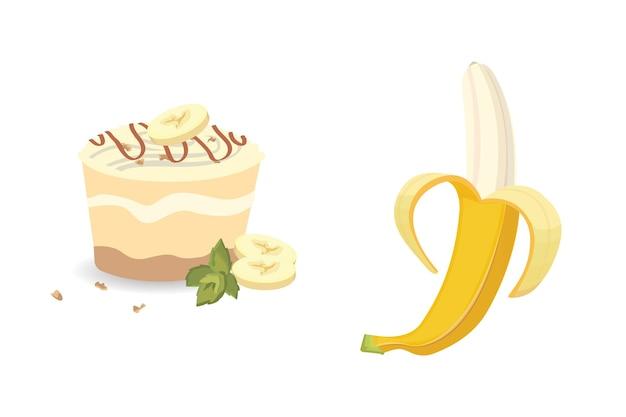 Banan z kawałkiem banana