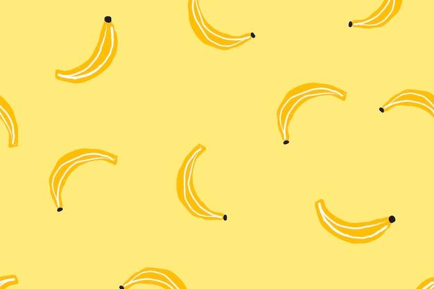Bananowa tapeta na pulpit, ładny wektor