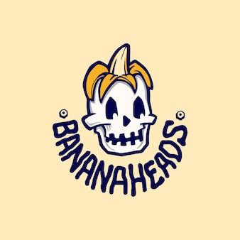 Bananowe głowy ilustracje logo