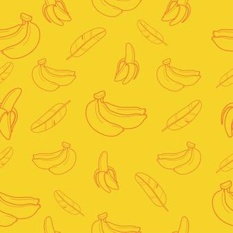 Bananowy owocowy bezszwowy deseniowy tło wektoru format