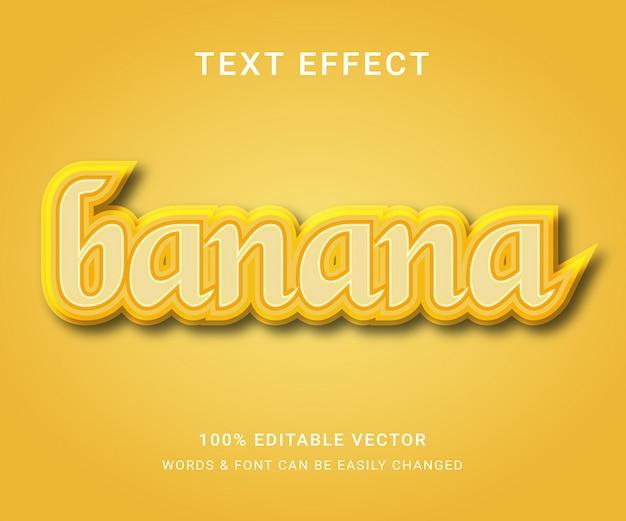 Bananowy w pełni edytowalny efekt tekstowy