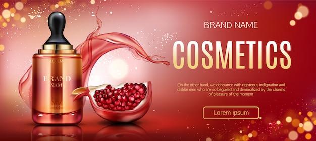 Baner butelki kosmetyczne granat