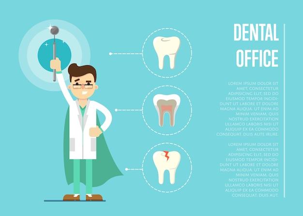 Baner dentystyczny biuro z dentystą