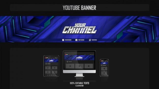 Baner dla kanału mediów społecznościowych z futurystyczną koncepcją