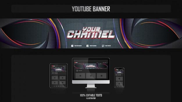 Baner dla kanału mediów społecznościowych z koncepcją karaibów