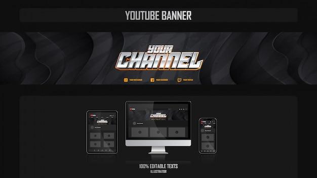 Baner dla kanału mediów społecznościowych z koncepcją muzyki