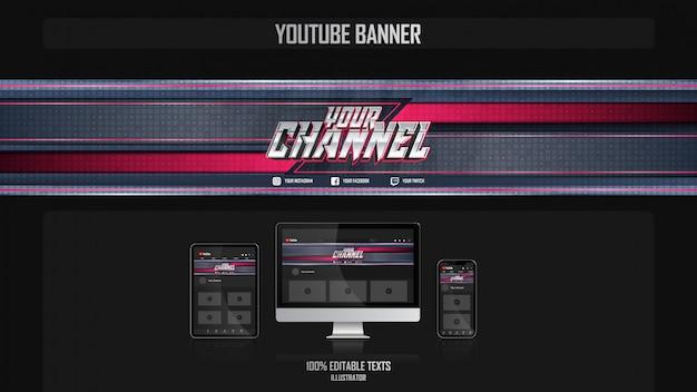 Baner dla kanału mediów społecznościowych z koncepcją tańca